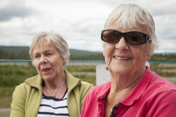Spelkontot stod på plus minus noll när TH pratade med dem. Berit Lilja, till vänster, och Margareta Eriksson från Stöde åker till Björnvalla i Vemdalen nästan varje år.