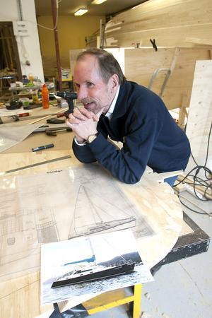 Ritningen har en konstruktör i England varit behjälplig med, berättar Jan-Åke Malmqvist.