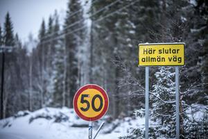 Här går vägen vidare mot Länglingen.