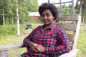 Ruta Demsie från Eritrea trivs på Fliken i Norberg men vill gärna börja jobba.