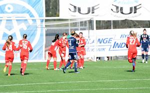 Emma Jansson blev matchens enda målskytt.