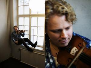 Jon Holméns väg från sex års ålder då han började spela har varit relativt odisciplinerad, men sedan länge är fiolen den kraft som bär och musiken från Boda styrkan och stoltheten. Foto:Stina Rapp