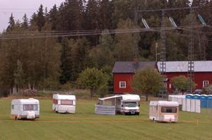 Husvagnar blir allt populärare på festivalen. 200 platser har bokats på årets camping att jämföra med 100 förra året.