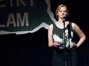 I finalen läste Kata Nilsson en dikt hon skrivit kvällen före och som gav henne en tredjeplats.