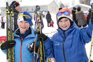Lukas Ejvinsson och Lukas Walther, Matfors SK är bästa vänner och hårda konkurrenter.