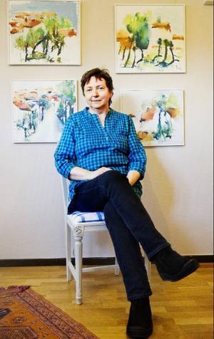 Lucy Pettersson ställer ut på Galleri Eken för andra gången i år. Foto: Ulrika Andersson