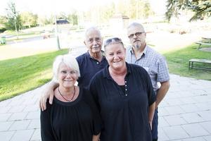 Valliansen (Vänsterpartiet och allianspartierna) presenterade tillsammans med Ljusdalsbygdens parti sina satsningar inför de kommande åren. På bilden syns Yvonne Oscarsson (V), Lars Molin (M), Helena Brink (C) och Lars Björkbom (KD).