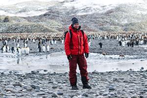 Anja Stigsdotter fick möta pingviner på andra sidan jordklotet.