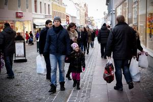 Under fredagen och lördagen var det många Ö-viksbor som gav sig ut inför en sista rusch inför jul.