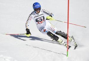 Sara Hector från tävlingarna i Åre i våras. I helgen kör hon både slalom och storslalom på hemmaplan igen.
