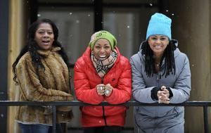 Afro-Dite har gått igenom krisen tillsammans. Nu accepterar de varandras olikheter. Från vänster: Gladys del Pilar, Kayo Shekoni och Blossom Tainton Lindquist.
