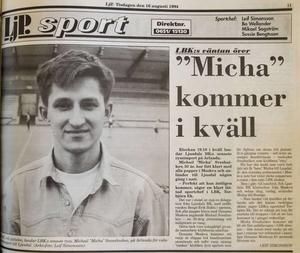 Ljusdals-Posten den 16 augusti 1994.