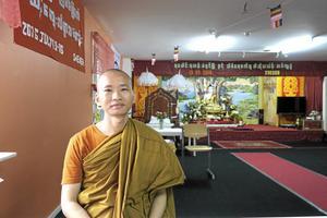 Munken Ven. U Sobhana är en av dem som lett arbetet med att bygga pagoden. Arkivfoto: NA