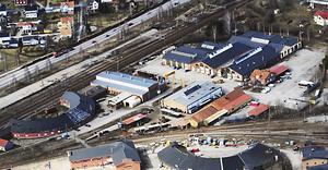 Fastigheten Bro 4:4 på SJ-området i Bollnäs. Här vill Bollnäs Gif Bandy bygga en bandyhall.