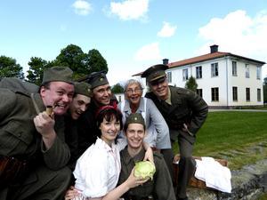 Den gamla herrgården var helt nergången när den fungerade som militärförläggning.