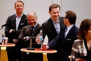 Hans Vestberg,  Alessandro Catenacci,  Melker Andersson,  Prins Daniel och Ebba Blitz.