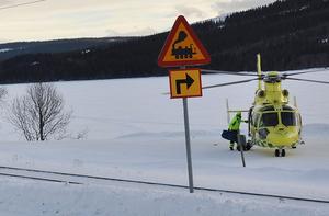 En person blev svårt skadad och fördes med ambulanshelikopter till Östersunds sjukhus.