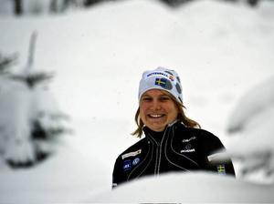 """Hanna Brodin ska kämpa mot de """"stora"""" tjejerna i dag."""