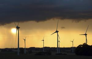Vindkraftverk i Gårdstånga i Skåne.