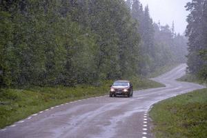 Vinterväglag på vägen upp till Nipfjället.