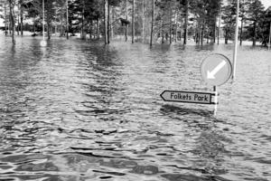 Hela Långnäsområdet sattes under vatten i maj 1966.