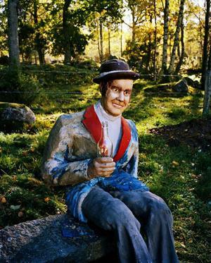 Helmer Jarl, Självporträtt – glad man i hatten.Foto: Lars Tunbjörk