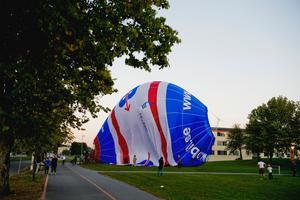 Den andra ballongen landade vid Trängen.