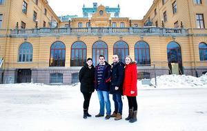 Fyra av huvudpersonerna när nya Elite Grand Hotel öppnar om en månad.