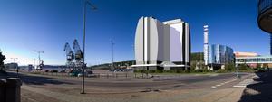 Så länge Scandic fanns med i hotellplanerna lutade det åt ett sånt här bygge i inre hamnen. Nu är det andra aktörer – andra planer som gäller.