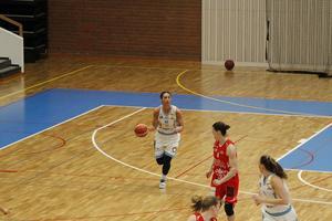 Taylor Wurtz i matchen mot Uppsala, hon stod för 15 poäng och sju returer.
