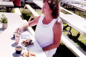 Från Halland kom Monika Vilhelmsson tillsammans med sina vänner. Besöket på kruskalaset var det andra någonsin.