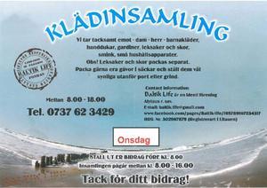 Sådana här klappar har delats ut i många brevlådor i Östersund i helgen.