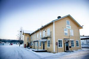 Järnvägsstationen i Långsele.