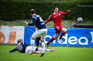 Amor Layouni hade lekstuga med Kungsgårdens försvar och gjorde två av Falu FK:s mål.