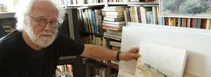 Bengt Croneby, Kungsörskonstnär som på måndag öppnar separatutställning på biblioteket.