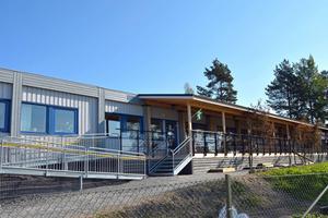Kungaskogen, en av de första förskolepaviljongerna i Örnsköldsvik.