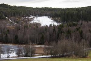 Grönt och brunt må dominera vinterlandskapet just nu, men Sidsjöbacken för åtminstone tankarna till något annat.