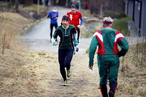 Erica Johansson, Östersunds OK, springer sistasträckan för Jämtland United när länet i helgen återkommer med damlag i klassiska 10-mila. Här från Frösö 5-dagars för några år sedan.