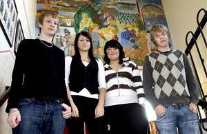 Rasmus Bergman, Caroline Jonsson, Sofie Norlander och Andreas Östlund som går i nian på Franzénskolan i Härnösand berättade i höstas om sina tankar inför valet till gymnasiet.