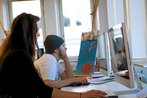 Kreativt. Joanna Nyroos och Gabriel Andersson skapar nästa stora mästerverk?