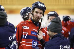 Han gjorde fyra mål (!) på en halvlek mot Saik. Blir det Byns skarpskytt Mattias Hammarström som avgör i sudden?