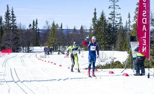 Åsarna IK:s Anton Karlsson vann herrklassen i Pilgrimsloppet.