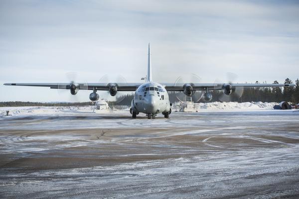 Herculesplan på Svegs flygplats.