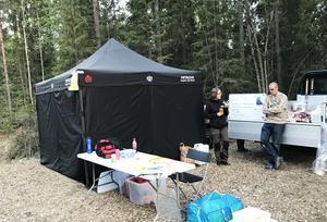 Missing peoples tält i Bjässjön, Indal