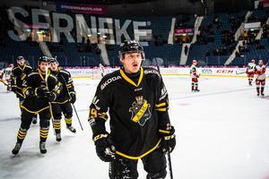 Johan Porsberger gav AIK ledningen i segermatchen mot Mora. Foto: Maxim Thoré/Bildbyrån
