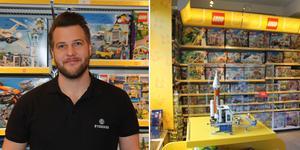 Patrik Ek har öppnat en legobutik i Nynäshamn.