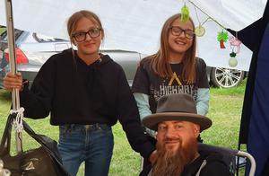 Under sex år i rad har Urban varit på Urkult tillsammans med döttrarna Stina och Klara.