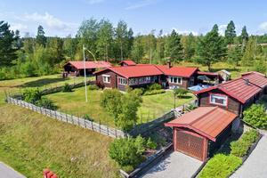 Timmervilla i ett plan i ett trivsamt område med vacker utsikt över Siljan.  Foto: Eric Böwes /Diakrit