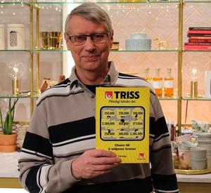 Anders Von Knorring, från Orsa, blev 250 000 kronor rikare genom Trissvinst.Foto: Svenska Spel