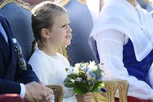 Prinsessan Estelle under firandet av Victoriadagen. Foto: Mikael Fritzon / TT